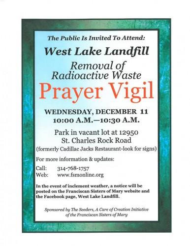 Prayer Vigil December 11, 2013