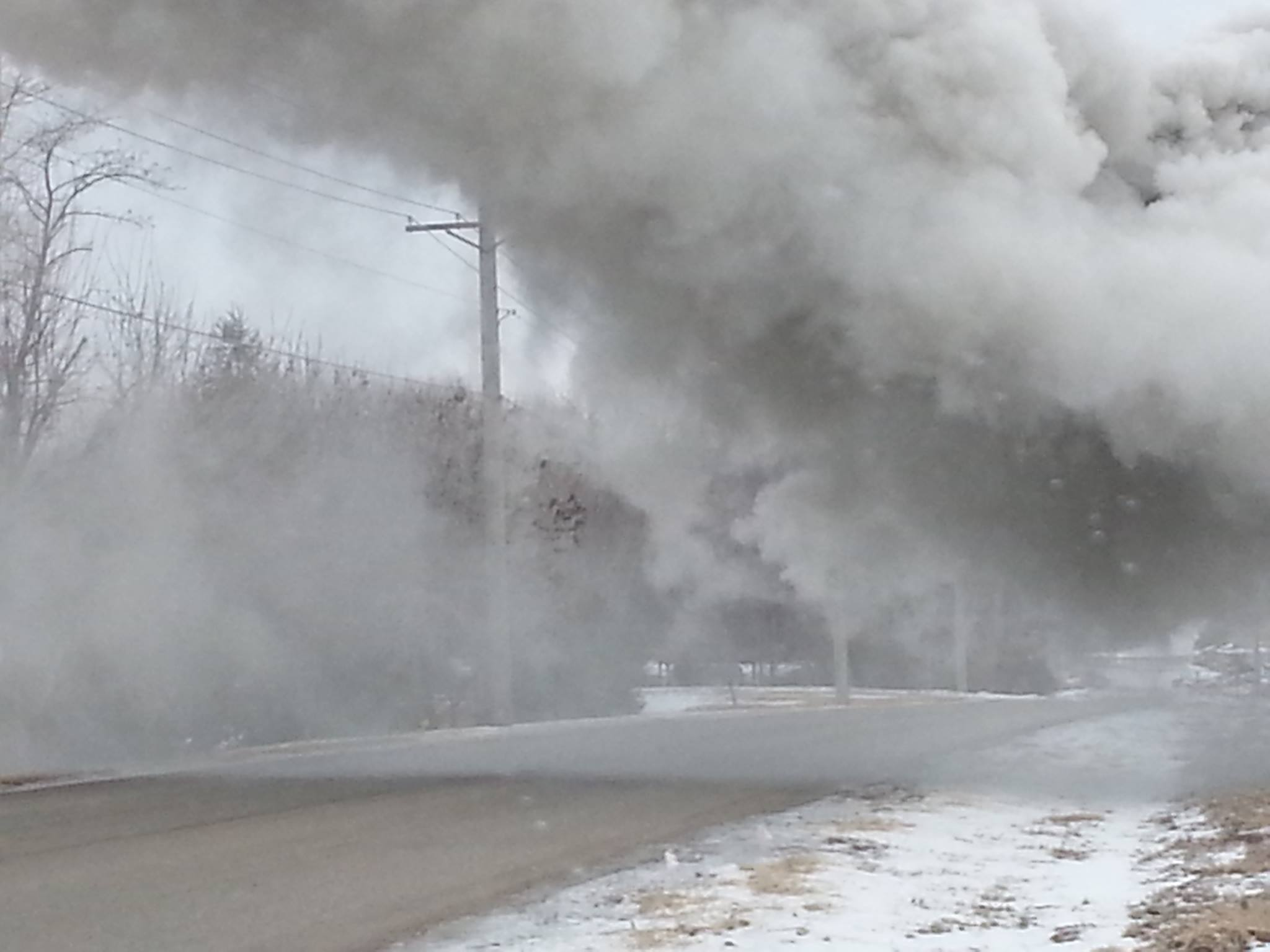 Landfill fire - February 16, 2014