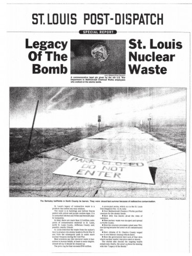 Legacy of The Bomb - St. Louis Nuclear Waste History