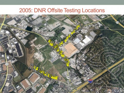 2005 DNR Offsite Testing Locations