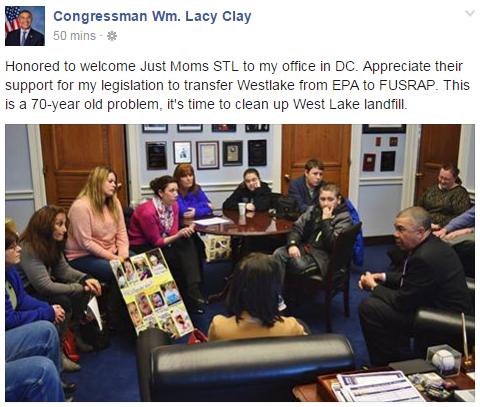 Congressman Clay Meets JustMomsSTL