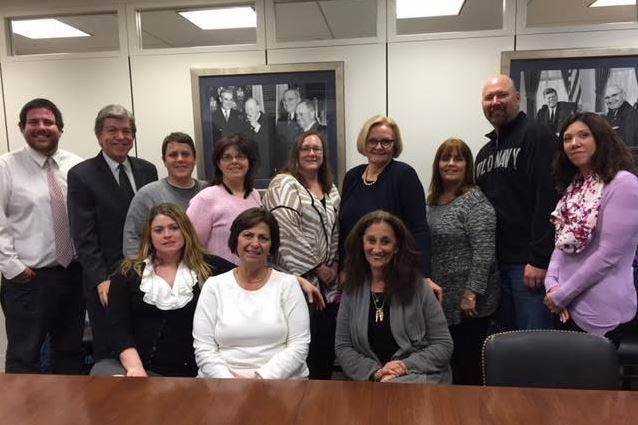 Just Moms STL and friends visit Senator Roy Blunt and Senator Claire McCaskill in Washington DC (Feb 2016)