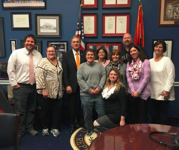 Just Moms STL and friends visit Congressman Blaine Luetkemeyer during their trip to Washington DC on February 8-10, 2016.