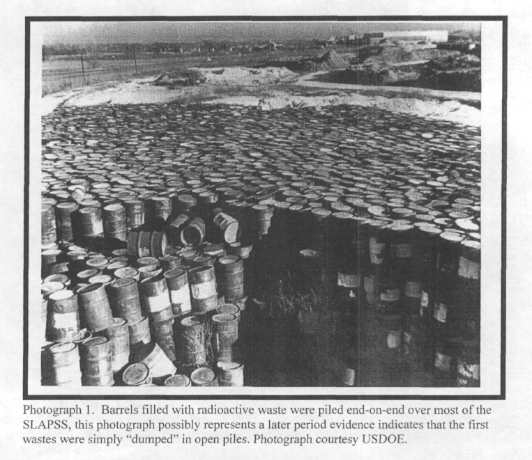 Barrels of Radioactive Waste Stored at SLAPSS