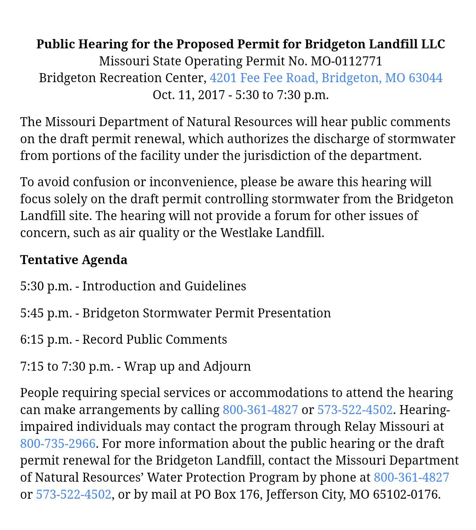Public Hearing Bridgeton Landfill Permit_10-11-17